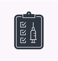 Program vaccination glyph icon on white background vector