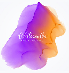 purple and orange watercolor stain background vector image