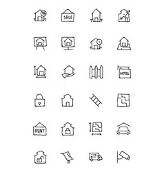 Real Estate Hand Drawn Doodle Icons 3 vector image