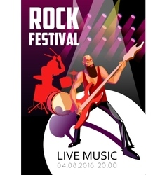 Rock Festival Cartoon Poster vector image
