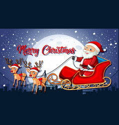 santa claus merry christmas template vector image