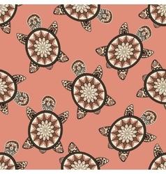 Seamless tortoise pattern in oriental style vector