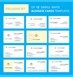 set of 12 coat creative busienss card template vector image