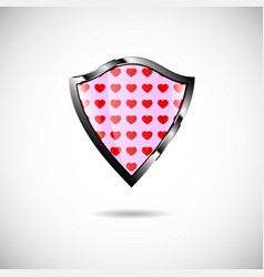 Shield heart vector