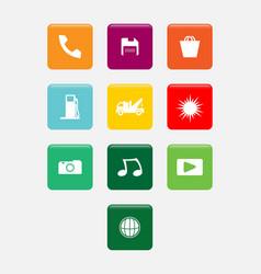 smartphone app icon set vector image