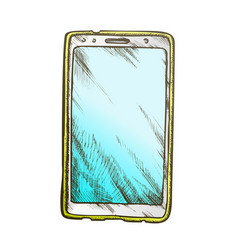 smartphone technology front view color vector image