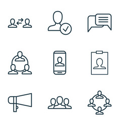 Social icons set collection of bullhorn confirm vector