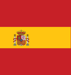 Spain flag official colors and proportion vector