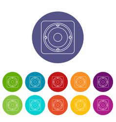 speaker icons set color vector image