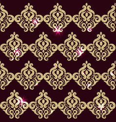 square pattern golden sparkle eastern pattern vector image