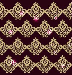 Square pattern golden sparkle eastern pattern vector