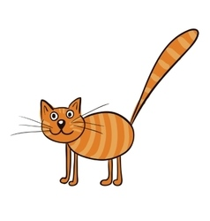 Striped ginger cat vector image