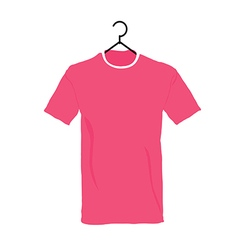 T-shirt in colorful on white background vector