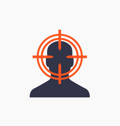 Target audience customer icon marketing concept vector