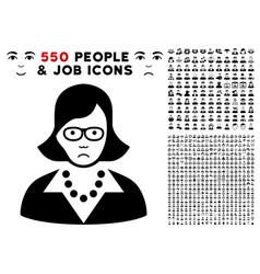 teacher lady icon with bonus vector image
