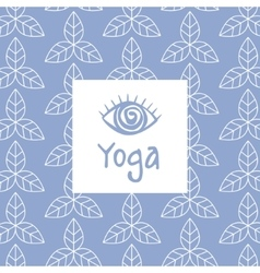 Third Eye Yoga Studio Design Card vector