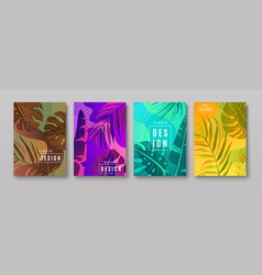 tropic pattern set collection tropical vector image