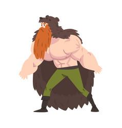 Viking warrior scandinavian mythology character vector