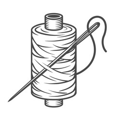 Vintage sewing spool concept vector