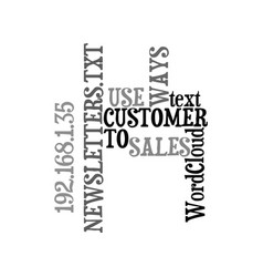 Ways to use customer sales newsletters text word vector
