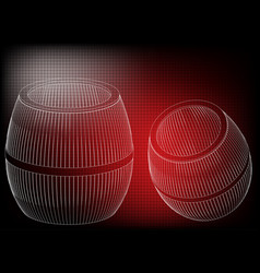 barrel on a red background vector image