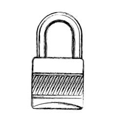 Blurred silhouette padlock security tool vector