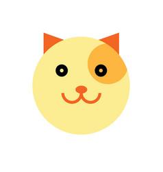 cat cartoon animal head vector image