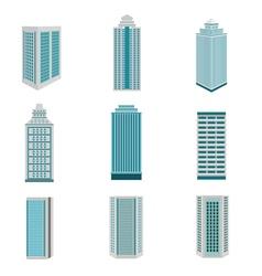 City building downtown landscape vector image