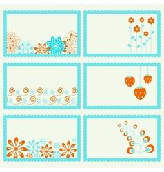 Elegance ornamental frames set vector image vector image