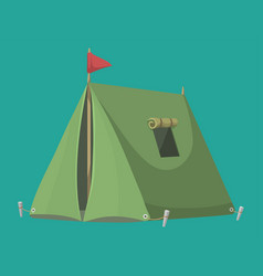 outdoor tent nature leisure vector image vector image