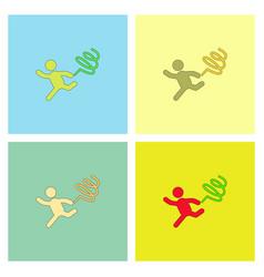 Rhythmic gymnastics with ribbon design set vector