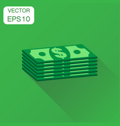stacks of euro cash icon business concept dollar vector image
