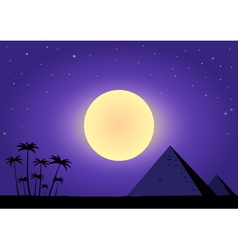 Summer night with pyramids vector image