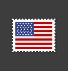 usa flag postage stamp vector image