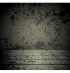 Concrete grunge room vector