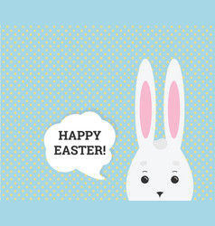 happy easter greeting card web banner vector image