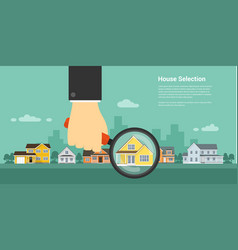 house selection concept vector image