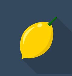 lemon cartoon flat icondark blue background vector image vector image