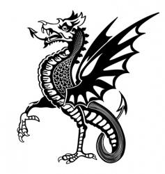 Medieval dragon vector
