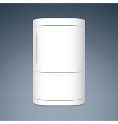 Modern closed white two door refrigerator vector image