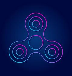 modern symbol hand spinner future sign vector image