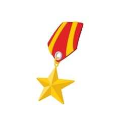 Star second world war medal cartoon icon vector image