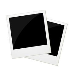 Two polaroid photos vector image