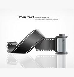 camera film roll silver vector image vector image