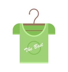 Green T-shirt on Hanger vector image