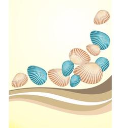Seashells background vector image vector image