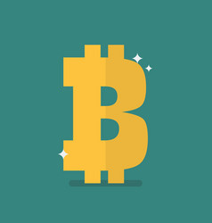 bitcoin icon sign vector image