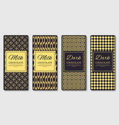 dark and milk chocolate bar design template 3d vector image vector image