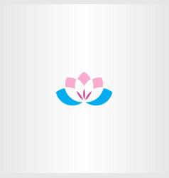 flower lotus logo icon symbol vector image vector image