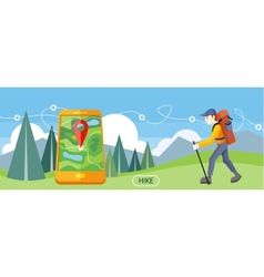 Hike Concept vector image